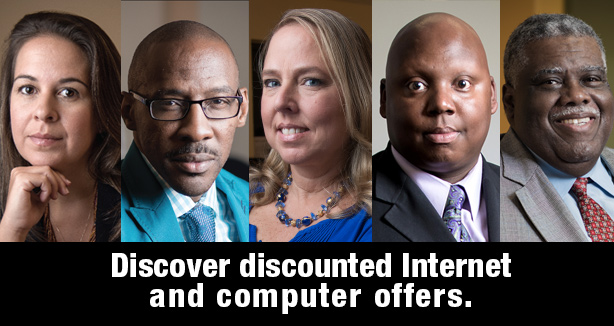 "community leaders call to action ""discover discounted Internet and computer offers"""