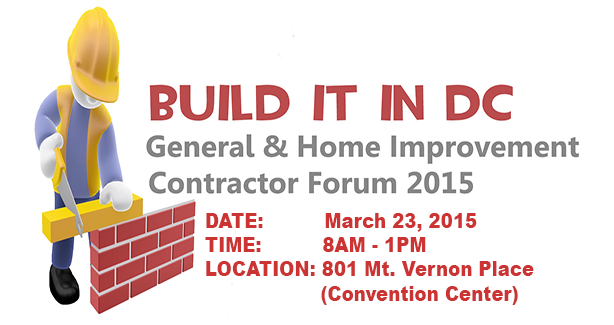 Building It In DC - Free Workshop - March 23, 2015