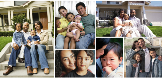series of photos of DC families