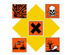 Hazardous Waste Symbol Graphic
