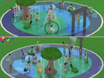 Lafayette Play DC Playground Project - New Splashpad - Raindrop Rendering 1