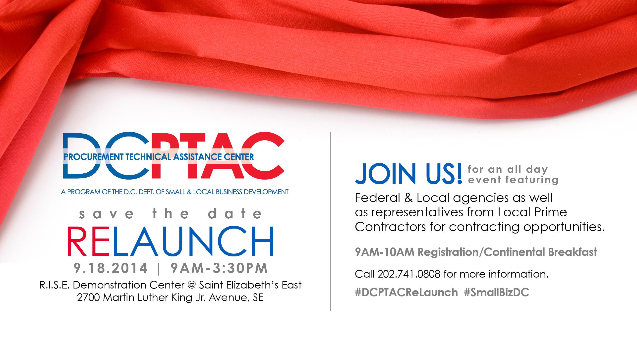 DC -PTAC  Procurement Technical Assistance Center RELAUNCH