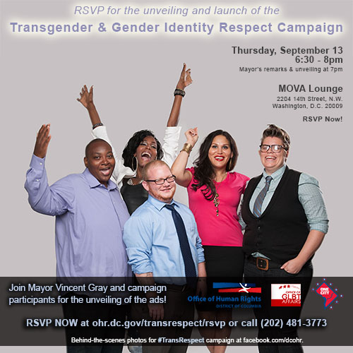 Transgender & Gender Identity Campaign Invite