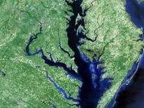 Satellite photo of Chesapeake Bay