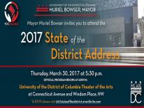 Mayor Muriel Bowser Invites you to attend the 2017 State of the District Address