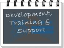 Development, Training, and Support logo