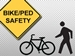 Bicycles and Pedestrians - bike-ped safetly logo